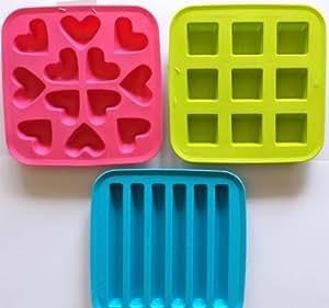 Ikea's Plastis Ice Cube Trays (Set of 3 - hearts, cubes, tubes)