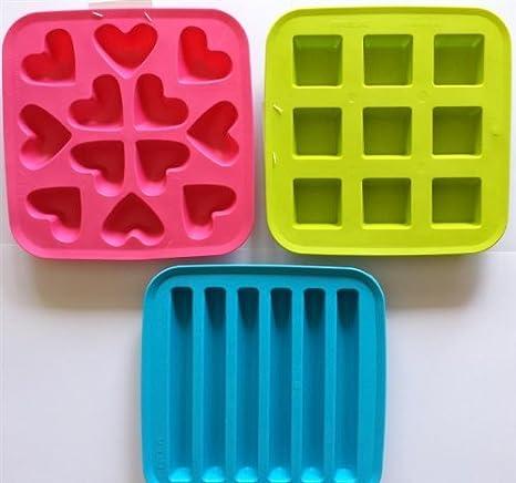Amazon.com: IKEA plastis Ice Cube bandejas (Conjunto de 3 ...