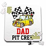 Carsten Reisinger - Illustrations - Pit Crew Dad Funny Car Race Theme Birthday Party Host - 10x10 Inch Puzzle (pzl_275700_2)