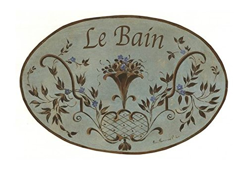 (The Stupell Home Decor Collection Le Bain Floral Bouquet with Scrolls Oval Bathroom Wall Plaque)