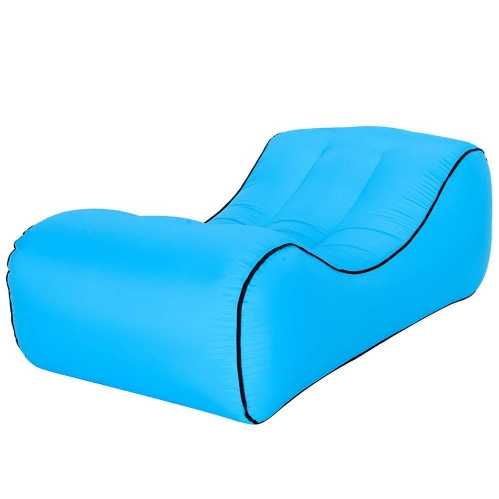 LRSFC amt mittagspause Luft aufblasbare Sofa im tragbaren einheitlichen aufblasbares Bett Feuchtigkeit Beweis Matte fauler Sofa - Bett,blau,übergroße