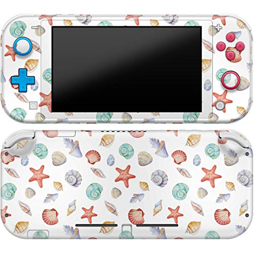 Cavka Vinyl Decals for Nintendo Skin Switch Lite (2019) Sticker with Design Seashells Pattern Print Cover Protector Wrap Durable Full Set Protection Faceplate Starfish Ocean Cute Nature Summer Beach