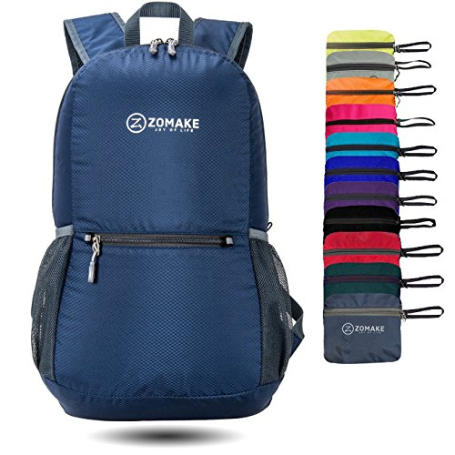 ZOMAKE Ultra Lightweight Packable Backpack Water Resistant Hiking Daypack,Small Backpack Handy Foldable Camping Outdoor Backpack Little Bag -