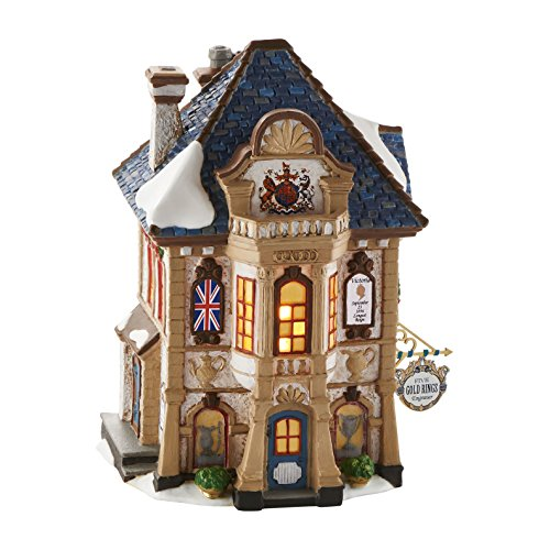 Department 56 Dickens' Village Five Gold Rings Engraver Light House, 7.56