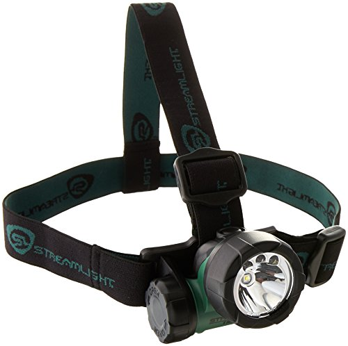 Streamlight 61051 Trident Headlight with 1 Green LED & 2 White LEDs (Batteries Included) by Streamlight