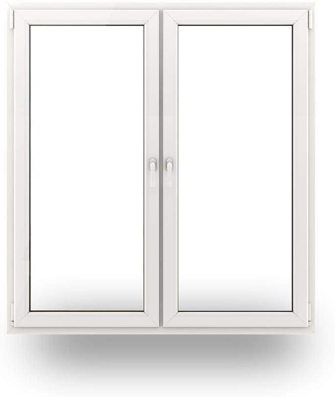 BxH: 1300x1700-3-fach-Verglasung Sonderma/ße m/öglich 70 mm Profil JeCo Fenster Kunststofffenster Wohnraumfenster 2 fl/ügelig mit Pfosten