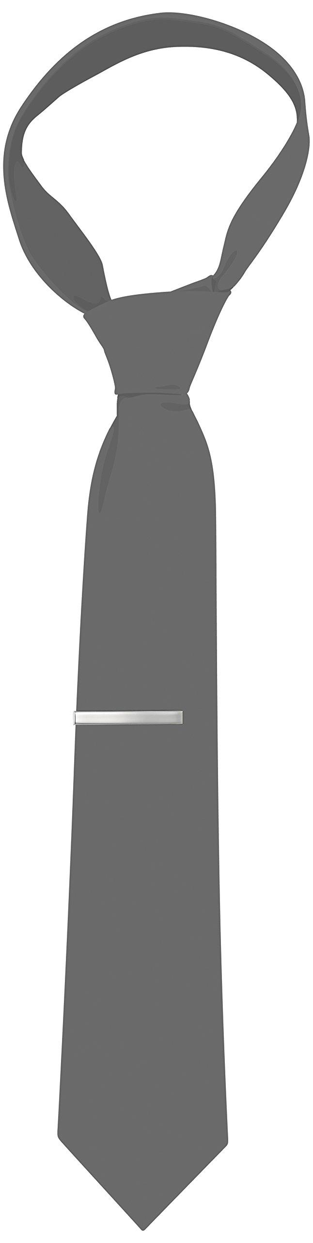 Kenneth Cole REACTION Men's Classic Tie Clip,Silver,One Size by Kenneth Cole REACTION (Image #2)