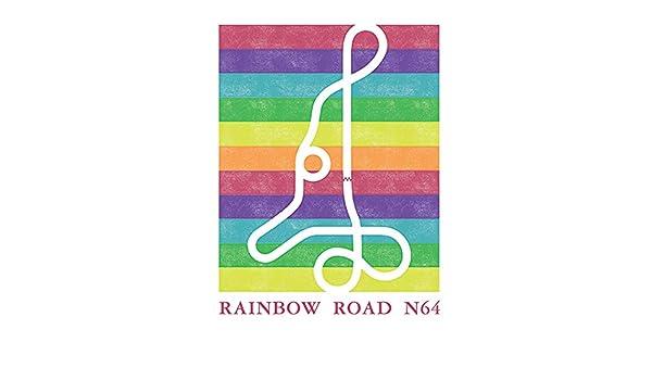 Amazon Com 11 X14 Mario Kart 64 Rainbow Road Track Map Print