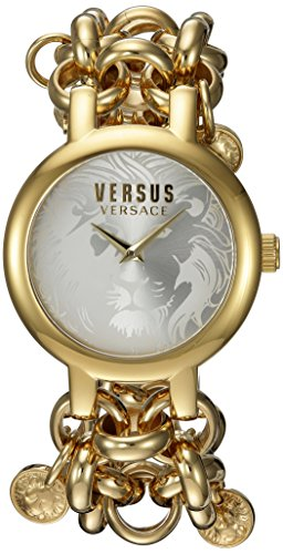 Versus by Versace Women's 'AGADIR' Quartz Stainless Steel Casual Watch, Color:Gold-Toned (Model: - Versace Medallion Gold