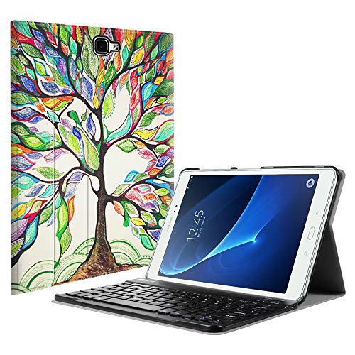 Fintie Samsung Galaxy Tab A 10.1 (NO S Pen Version) Keyboard Case, Slim Lightweight Stand Cover w/Magnetically Detachable Wireless Bluetooth Keyboard Compatible with Tab A 10.1 Inch, Love Tree