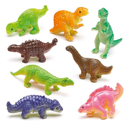 Baker Ross Stretchy Dinosaurs for Children to Play with Perfect Party Bag stuffer Small Gift Idea for Kids Pack of 12