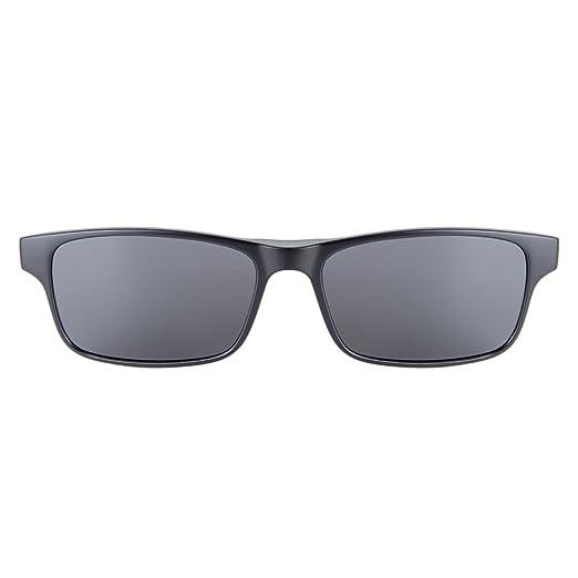 Cyxus Anti Blaues Licht Brille [Klare Linse] mit Clip An Polarisiert Sonnenbrille Set Rechteckig Brillengestell Unisex(Männer/Frauen) Schwarz Polarisiert Linse z8HZg