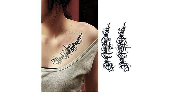 5pcs Impermeable Etiqueta engomada del Tatuaje de la Raya Código ...