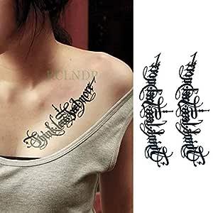 Handaxian 3pcsRose Flower Pearl Tatto Pierna Brazo Espalda Tattos ...