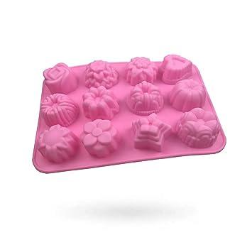Moldes de silicona molde para tartas, chocolate, gelatina, Pudding, moldes de postre