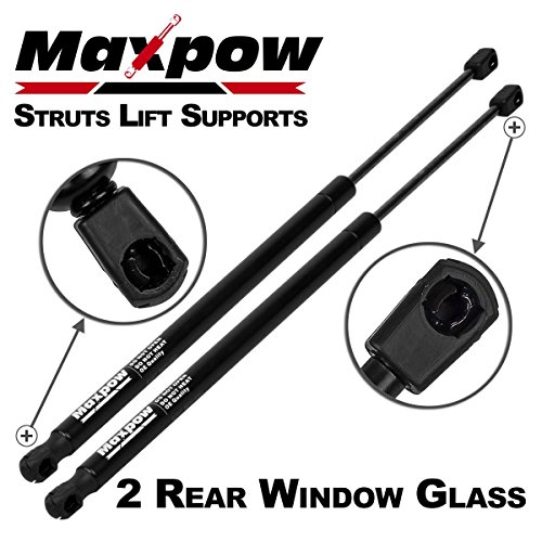 Maxpow 2pcs Rear Window Glass Gas Charged Lift Support Fits 2006-2010 Jeep Wrangler