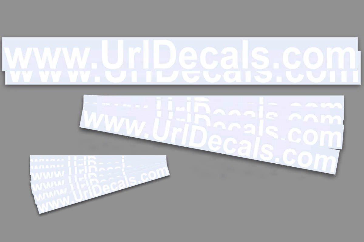 Amazon com custom domain name url decal kit 12 decals to promote your website or business sticker for car truck window automotive