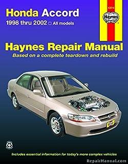 honda accord 1998 2002 haynes repair manuals haynes rh amazon com 1998 honda accord service manual pdf 1998 honda accord coupe owner's manual