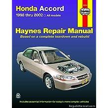 H42014 Haynes Honda Accord 1998-2002 Repair Manual