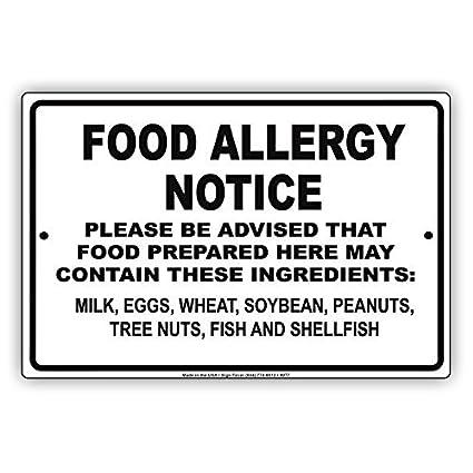 Alergia alimentaria aviso advertencia puede contener leche, huevos, trigo, soja, cacahuete,