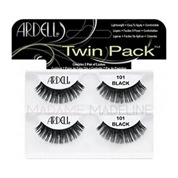 910bad388fa Amazon.com : (3 Pack) ARDELL Twin Pack Lashes - 101 Demi Black by Ardell :  Beauty