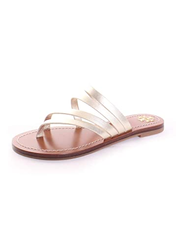 c5ba31be874497 Tory Burch Patos Flat Sandal (6.5) Spark Gold