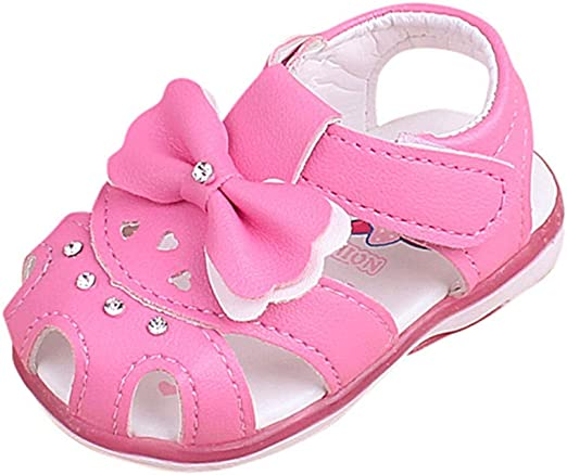 Summer Fashion Bow Ankle Strap Kids Girls Jelly Shoes Soft Beach Sandals