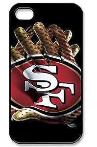 San Francisco 49er Logo NFL HD image case cover for iphone 4/4S black A Nice Present