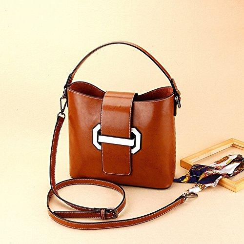 Handtaschen Alle Spiel Reine Farbe Handtasche Casual Einfache Kapazität Schulter Diagonal Handtaschen , khaki