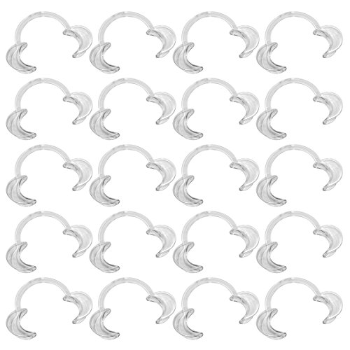 EZGO 20 Pieces (Size M) C-Shape Teeth Whitening Cheek Retractor, Autoclavable Dental Mouth Opener, Disposable Dental Lip Cheek Retractor for Mouthguard Challenge Game