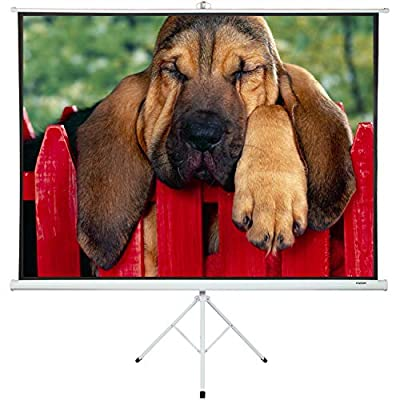 "Portable Projector Screen with Stand 100"" - Projector Screen Pull Down and Projection Screen with Stand - This Portable Screen is The Best Outdoor Movie Screen with Stand - Indoor and Outdoor Screen"