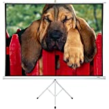Portable Projector Screen with Stand 100'' - Projector Screen Pull Down and Projection Screen with Stand - This Portable Screen is The Best Outdoor Movie Screen with Stand - Indoor and Outdoor Screen