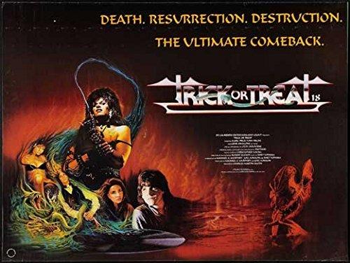 Trick or Treat Poster Movie UK Tony Fields Marc Price Ozzy Osbourne Gene Simmons