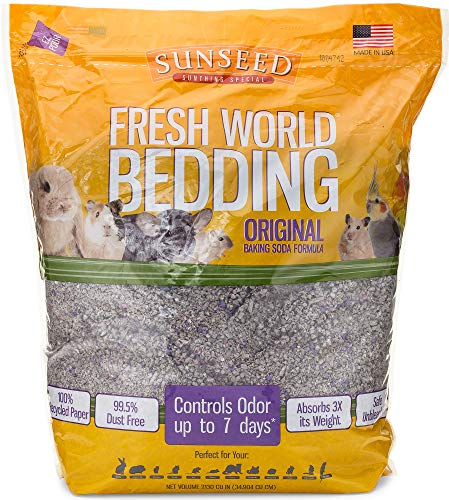 Sunseed 18222 Fresh World Bedding for Small Animals, Original Gray - 2130 Cubic Inch