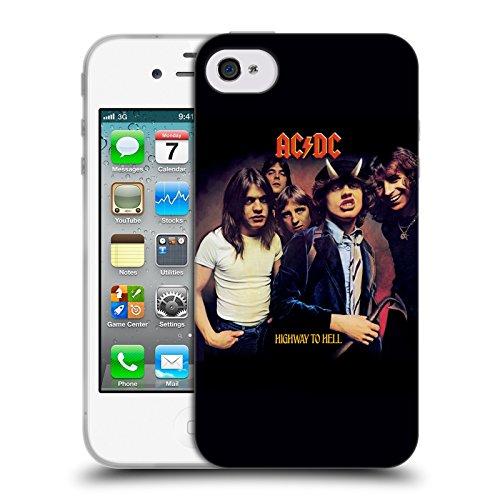Officiel AC/DC ACDC Route Au Diable Couverture D'album Étui Coque en Gel molle pour Apple iPhone 4 / 4S