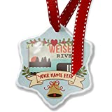 Add Your Own Custom Name, USA Rivers Weiser River - Idaho Christmas Ornament NEONBLOND