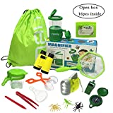 Jollysweets Outdoor Exploration Kit 16 Pcs Set, Backpack, Butterfly Net Catcher, Bug Catcher, Bug...