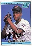 Pat Mahomes autographed baseball card (Minnesota Twins) 1992 Donruss Rated Rookie #403