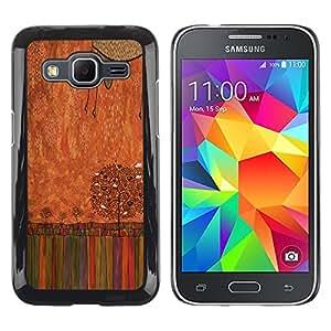 LECELL--Funda protectora / Cubierta / Piel For Samsung Galaxy Core Prime SM-G360 -- Pastel Crayon Art Drawing Tree --