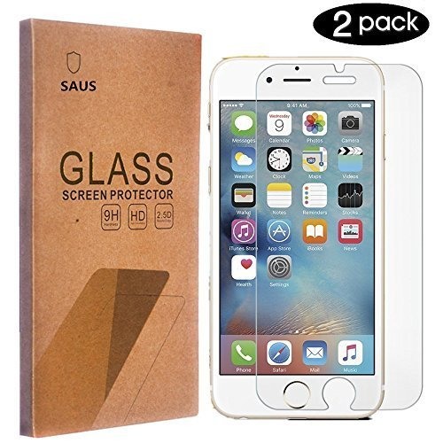 iPhone 7 Plus Screen Protector, SAUS [2-Pack] [0.2mm] iPhone 7 Plus / iPhone 7 pro Tempered Glass Screen Protector (5.5 inch) Bubble-Free Screen Protector for iPhone 7 Plus / Pro