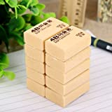 MAZIMARK-Wholesale 4B 100A Pencil Drawing Writing Eraser Stationery Student Office Supply