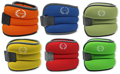 Da Vinci Adjustable Ankle or Wrist Weights, Sold in Pairs of 1 to 5 lbs (2 to 10 lbs per Set)