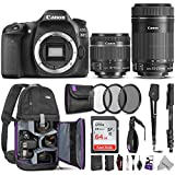 Canon EOS 80D DSLR Camera with EF-S 18-55mm f/3.5-5.6 is STM + EF-S 55-250mm f/4-5.6 is STM Lens w/Advanced Photo & Travel Bundle