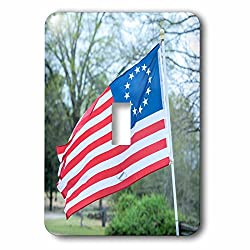 3dRose Danita Delimont - Flags - USA, South Carolina, Camden, Historic Camden, Betsy Ross flag - Light Switch Covers - single toggle switch (lsp_259986_1)
