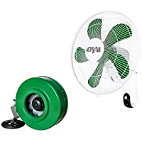 HYDROFARM ACF16 Active Air 16 Wall Mountable Grow Fan + 6 ACDF6 In-Line Fan