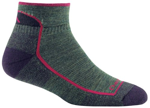 Darn Tough HikeTrek Cushion Quarter Sock - Womens Moss Heather Small