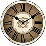 Charlotte Wall Clock, Available in 8 Sizes, Most Sizes Ship The Next Business Day, Whisper Quiet.