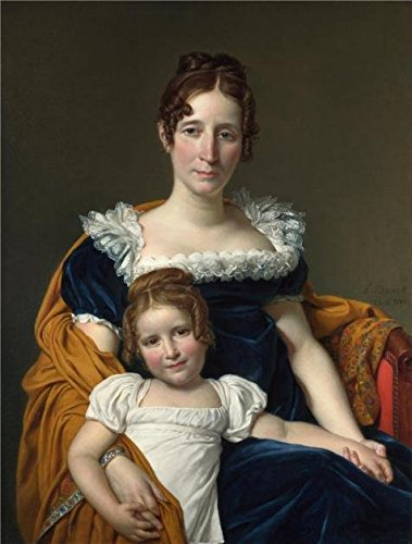 Costume Design In Greek Theatre ('Jacques-Louis David-Portrait Of The Comtesse Vilain XIIII And Her Daughter,1816' Oil Painting, 20x26 Inch / 51x67 Cm ,printed On Perfect Effect Canvas ,this Best Price Art Decorative Canvas Prints Is Perfectly Suitalbe For Gift For Bf And Gf And Home Decor And Gifts)