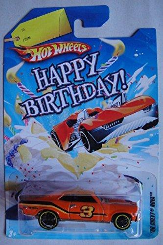 Amazon Com Hot Wheels Happy Birthday Card Orange 68 Chevy Nova