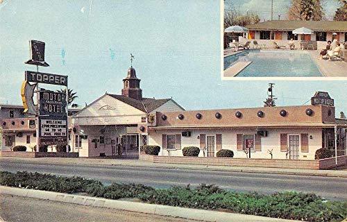 (Bakersfield California Topper Motor Hotel Vintage Postcard JA454461)